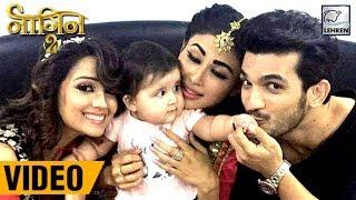 Karanvir Bohra's Baby PLAYS With Mouni, Arjun & Adaa On Naagin 2 Sets   Full Video
