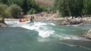 rafting/رفتینگ قایق سواری بر روی رودخانه زاینده رود