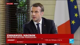 """EXCLUSIF - Emmanuel Macron : """"Avec Roch Kaboré, nous plaisantons, et cela l'a fait rire !"""""""