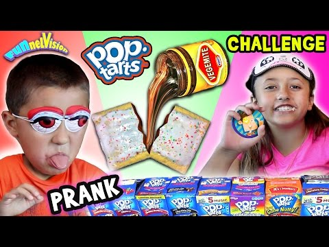 VEGEMITE POP TART PRANK CHALLENGE w/ Lex & Mike (FUNnel Vision pt. 2)
