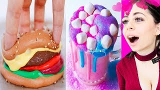 FOOD SLIME - Oddly Satisfying Video Compilation - ASMR, Slime Pressing and more!