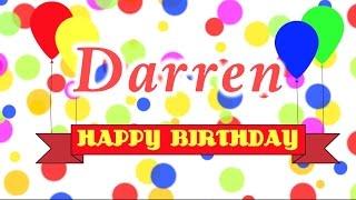 Happy Birthday Darren Song
