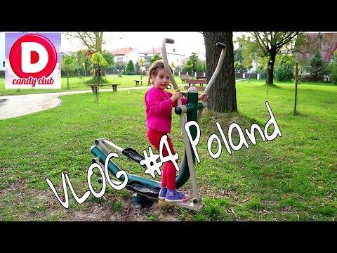 ✪#4VLOG Польша Площадка тренажоров Дашенька на Озере# 4Vlog Poland Golf simulators Dasha on the Lake