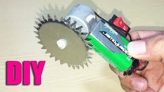 How to Make Mini Circular Saw Machine DIY at Home - Life Hacks