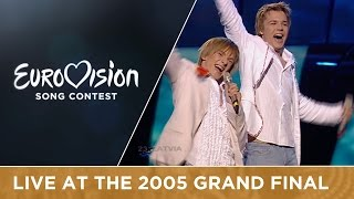 Walter & Kazha - The War Is Not Over (Latvia) Live - Eurovision Song Contest 2005