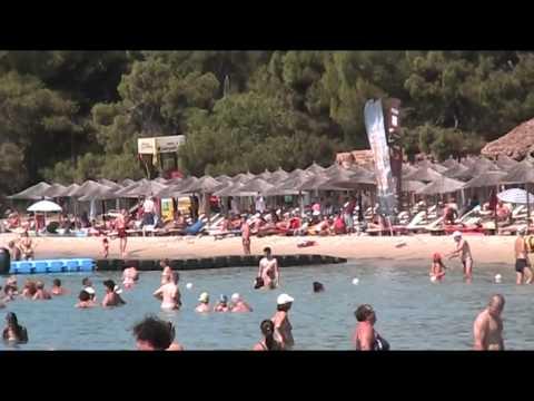 GREECE SKIATHOS Koukounaries beach, bus stop 26.