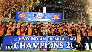 IPL 9 FINAL: Sunrisers Hyderabad Win Title | SRH Celebrations