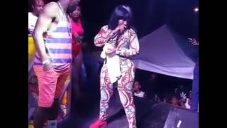 Spice Dance with a man from the audience look what happen.