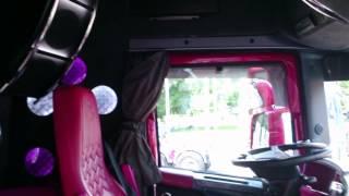 Inside the cabin   Madonna Scania truck winner Baltic Truck Show 2015 Tallinn