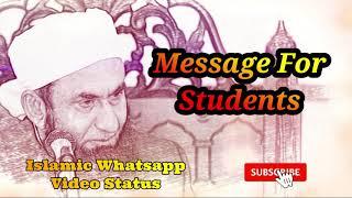 Message For Students ❤️ Maulana Tariq Jameel Bayan Whatsapp Status Video ❤️