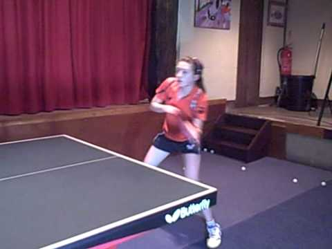 Table Tennis shots in slow motion