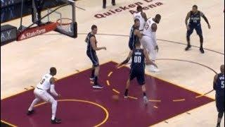 LeBron James behind-the-back pass between Aaron Gordon