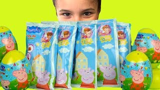 Peppa Pig Play Doh Clay Kids Toys Surprise Eggs Mashems Peppa Pig Clay Buddies