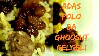 Adas polo Cooking with Toorandokht