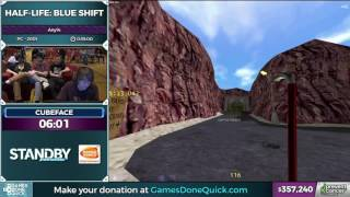 Half-Life: Blue Shift by cubeface in 30:31 - Awesome Games Done Quick 2017 - Part 63