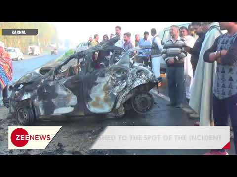 Xxx Mp4 Karnal Accident Four Killed As Car Catches Fire After Colliding With Truck 3gp Sex