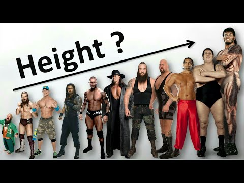 Height Comparison of Male WWE Superstars 2018