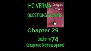 #Hcv HC Verma || solving questions || Electrostatics || Question no 74