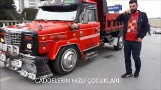 Modifiye yasaklarına isyan eden kamyoncu