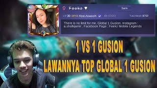 1 VS 1 GUSION , LAWAN TOP GLOBAL 1 GUSION!!! - MOBILE LEGENDS INDONESIA