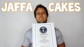 Guinness World Record for Most Jaffa Cakes (17) Eaten in One Minute | Furious Pete