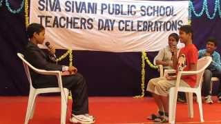 Funny skit (The interview) by students on Teachers' day.