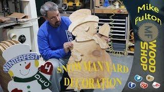 Snowman Yard Decoration