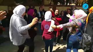 """وصلة رقص لسيدات على """"أبو الرجولة"""" أمام لجنة انتخابية بالمعادي"""