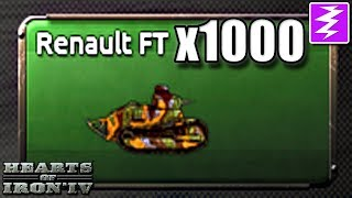 CAN GREAT WAR TANKS ONLY WORK??? - 1000x Mod - Hearts of Iron IV