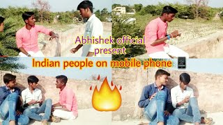 Indian People On Mobile Phone. ( Abhishek Official)
