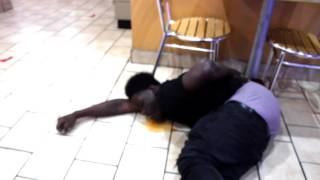 girl gets shot ( down town ATLANTA )