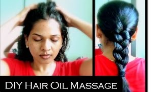 how to apply oil and  massage hair for strong and healthy hair | reduces hair fall