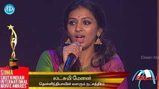 SIIMA 2014 Rising Star of South Indian Cinema || Laxmi Menon