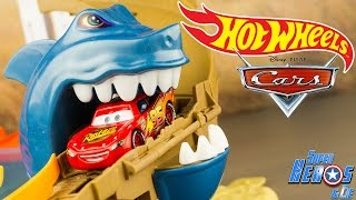 Hot Wheels Piste Requin Attaque Colour Shifters Flash McQueen #français 4k #Jouet #Toy #Unboxing