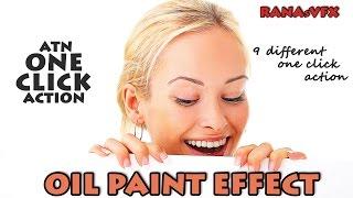 Photoshop ATN ACTION! || 9 Oil paint effect || Free || RANAsVFX