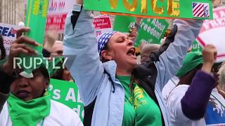 USA: Thousands rally ahead of Supreme Court vote on labour union funding