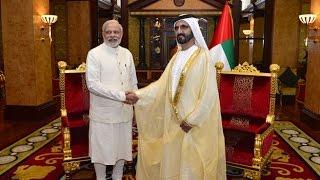 محمد بن راشد يستقبل رئيس وزراء الهند -  Mohammed bin Rashid recieves Prime Minister of India