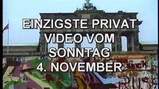 4.11.1989 Brandenburger Tor das einzige privat Video.von dieser