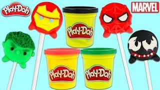 How to Make Marvel Tsum Tsum Play Doh Lollipops with Spiderman, Iron Man, & More!