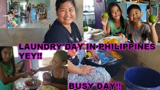 THIS IS HOW WE DO OUR LAUNDRY IN THE PHILIPPINES | EATING MANGO AND COOKING TODAY