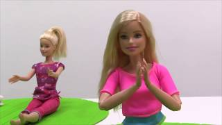 Sporcu Barbie ile yoga yapma oyunu. #Barbieoyunları. Barbie koleksyonu izle