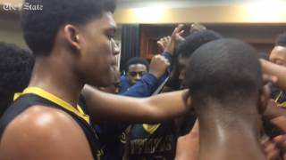 Keenan celebration after win over Gray Collegiate