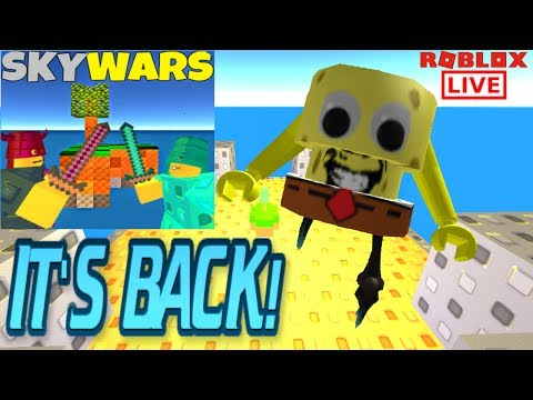 ROBLOX SKYWARS IS BACK! LIVE