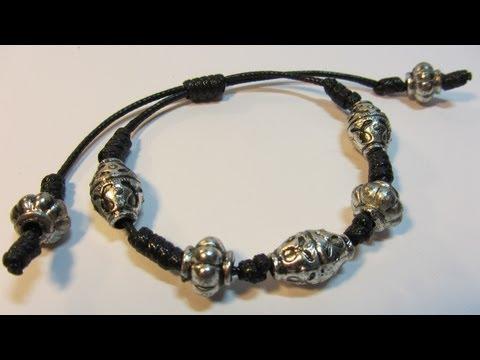 Tutorial Pulsera de nudos. Bracelet knots.