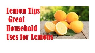 Great Household Uses for Lemons | why lemon water is good for you?