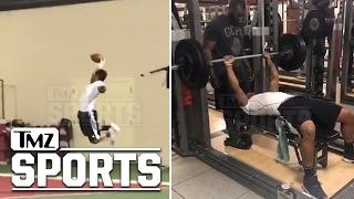 Joe Mixon NFL Draft Training -- 1-Handed Grabs and Crazy Speed | TMZ Sports