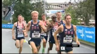 Mo Farah Two Miles Great North City Games,Newcastle,2011(with interview)