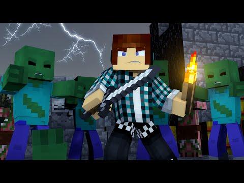 Minecraft SALVEI O MUNDO DE ZUMBIS Monstros Vs Humanos