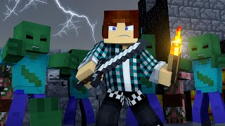 Minecraft : SALVEI O MUNDO DE ZUMBIS !! (Monstros Vs Humanos)