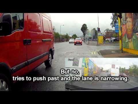 Red Van Tight Squeeze - Falls Road / Divis Belfast - TKZ9619